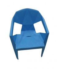 CHAISE PLAST NEW STYLE LARGE BLEU