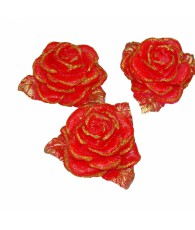BOUGIES ROSES PAILLETTES X 3  NRO580