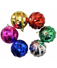 PACK 6 BOULES 6CM LAMELL/6COL