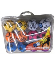 SET 12 TAILLE CRAYON BALLE FOOT
