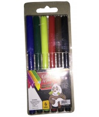 MARQUEUR 6 PIECES COLOR FIBRE  C480