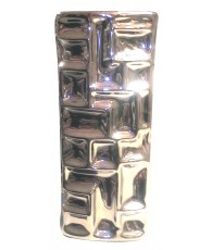 VASE STYLE METAL FROISSEE 30X13.5CM