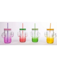 MUG CACTUS COULEUR 480ML PAILLE /48PCS