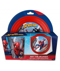 SET DEJEUNER SPIDERMAN PLAST. 3PCS
