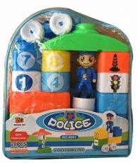 MINI BLOCK POLICE 28PCS 19X9X23CM