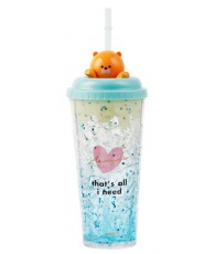 GOBELET ICE 550ML OURS PAILLE