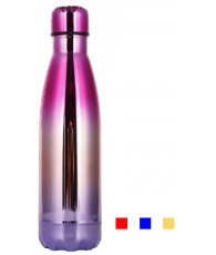 GOURDE METAL 500ML BRILLANTE ASST