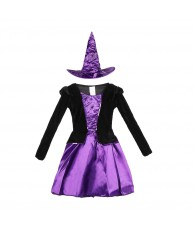 DEGUISEMENT WITCH GIRL PURPLE