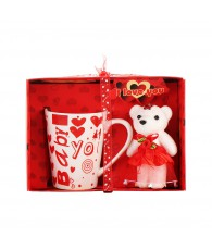 BOITE OURS TASSE I LOVE YOU